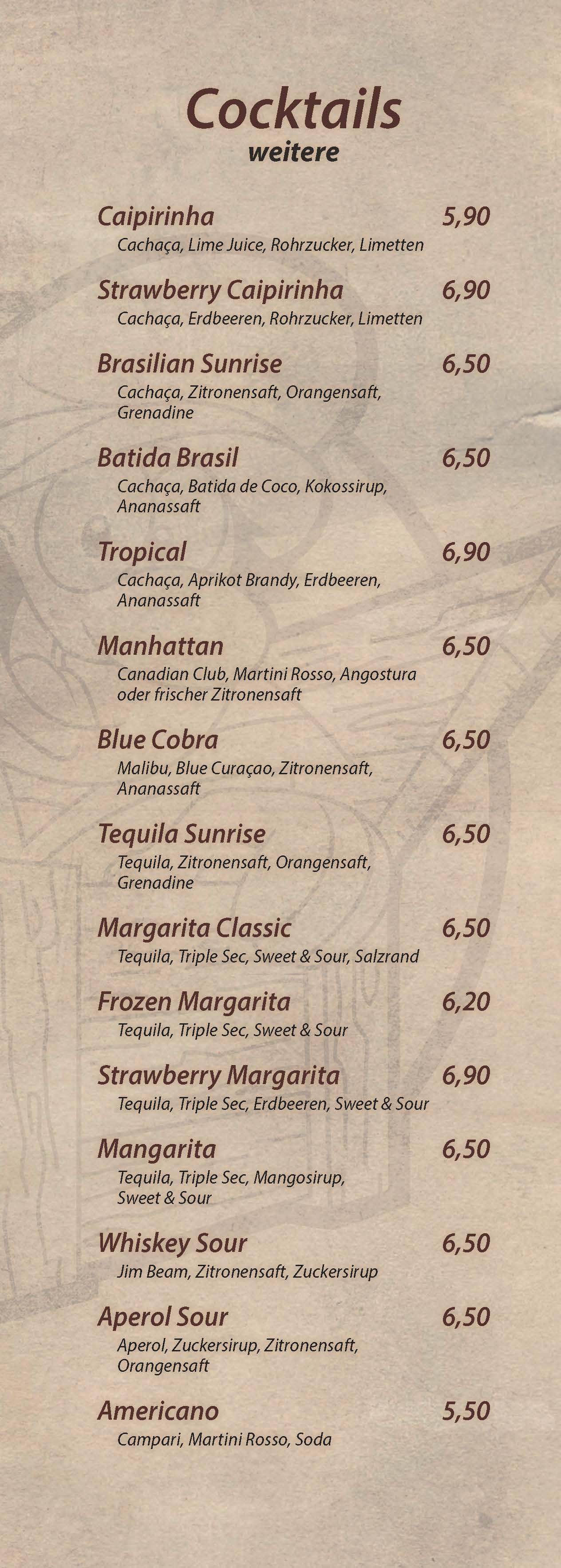 Cocktails - Cocktailbar Die Kiste in Cuxhaven