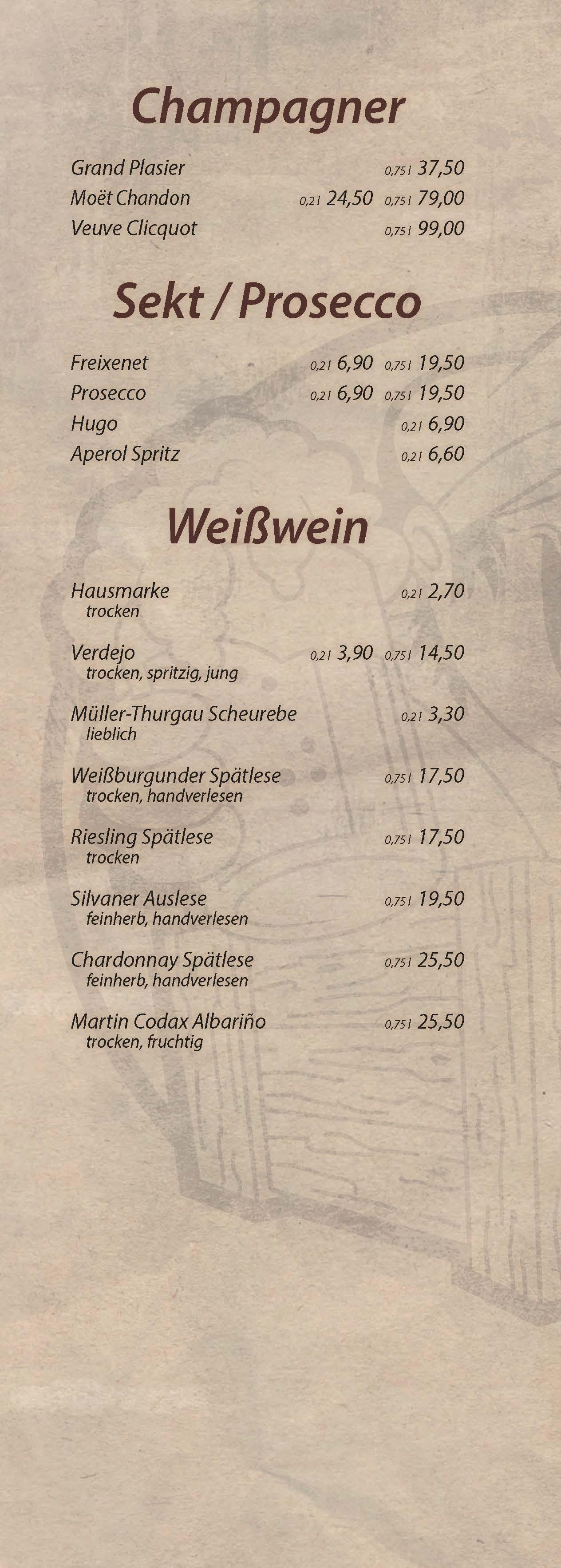 Champager,Sekt und Weißwein - Cocktailbar Die Kiste in Cuxhaven