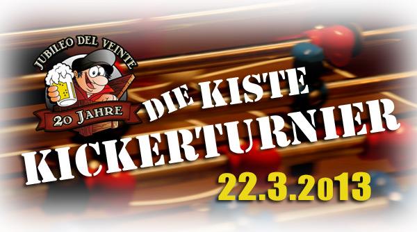 Tischfussball Turnier in Cuxhaven am 22.03.2013 - Die Kiste