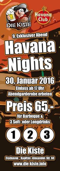 Spiele- und Loungeabend am 30.01.2016 in der Kiste in Cuxhaven