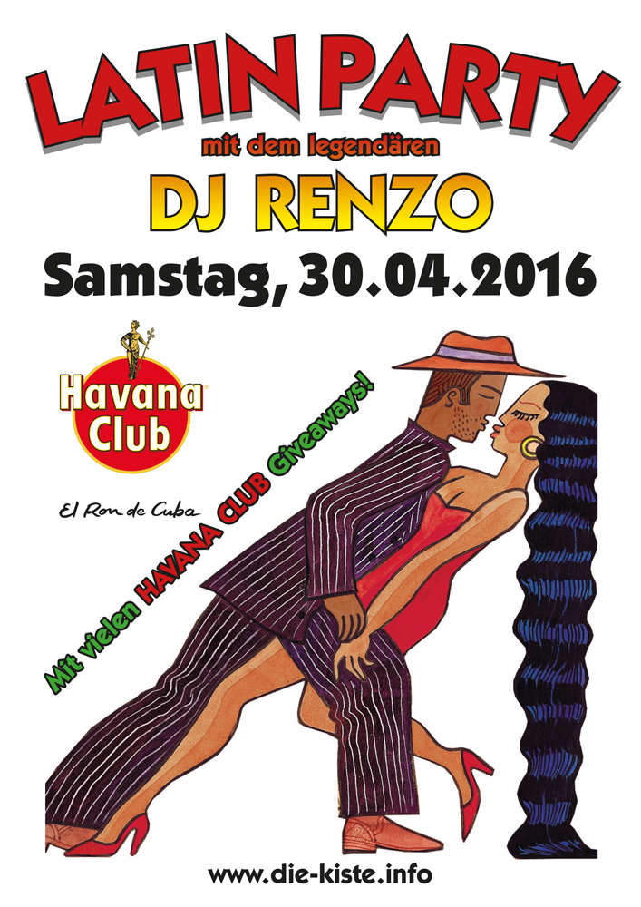 Latin Party - Latino und House mit DJ Renzo in Cuxhaven