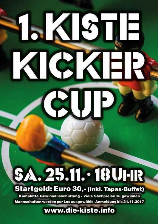 1. KISTE KICKER CUP - Tischfussballturnier in der Die Kiste in Cuxhaven