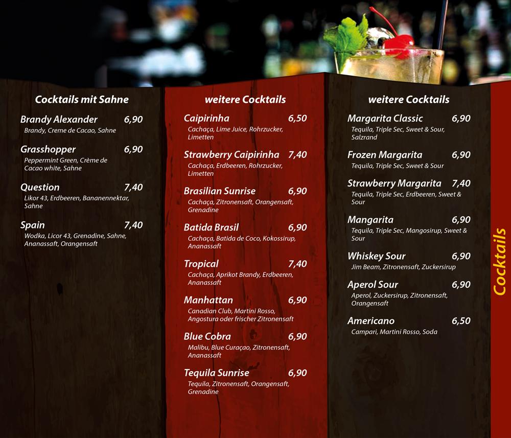 Cocktails mit Sahne - weitere Cocktails - Die Kiste Cuxhaven