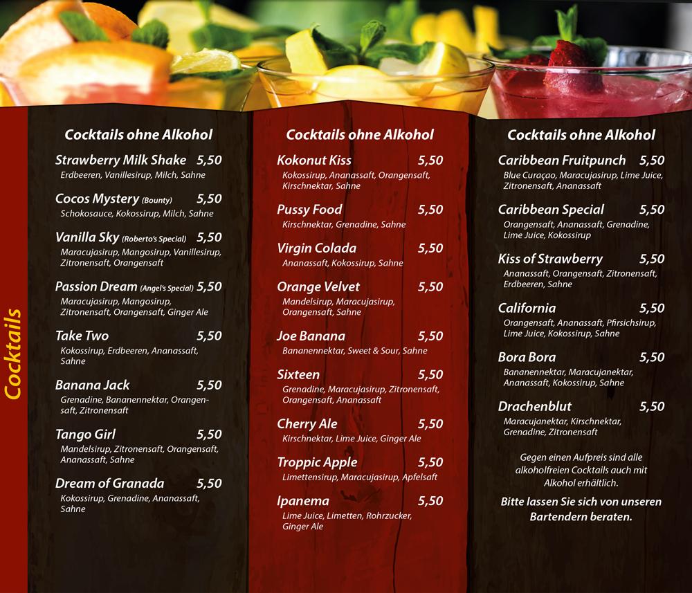 Cocktails ohne Alkohol - alkoholfreie Cocktails - Die Kiste Cuxhaven
