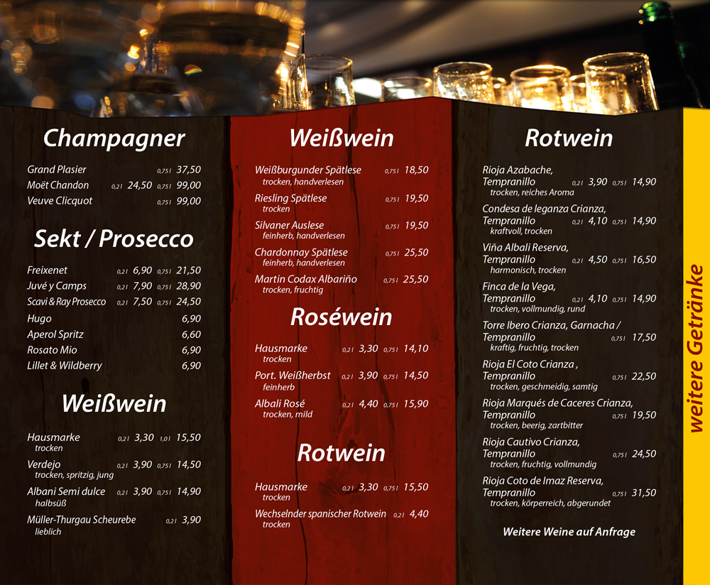 Wein, Sekt, Champagner - Die Kiste in Cuxhaven
