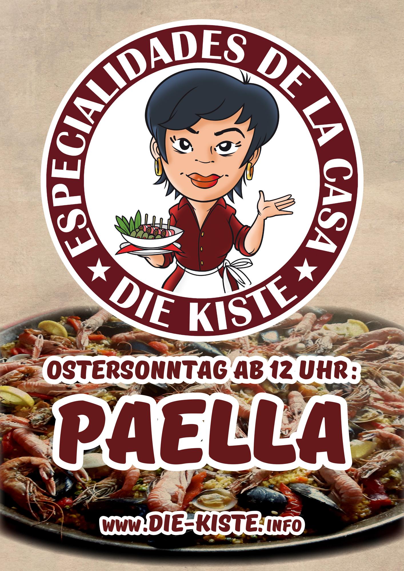 Paella - hausgemachte, spanische Spezialitäten - Tapas- und Cocktailbar DIE KISTE in Cuxhaven