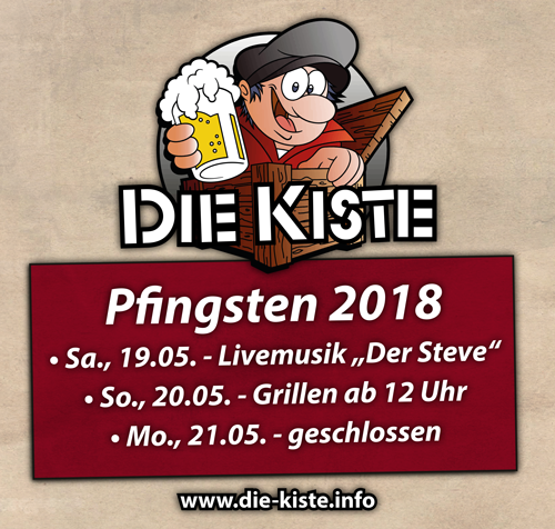 Pfingsten Cuxhaven - Grillen - Livemusik - Cocktails und Tapas - Die Kiste in Cuxhaven