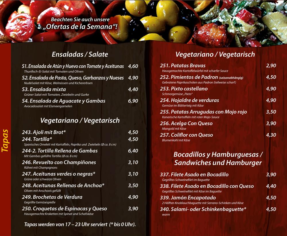 Tapas - Vegetarisch - Sandwiches - Hamburger - Die Kiste in Cuxhaven