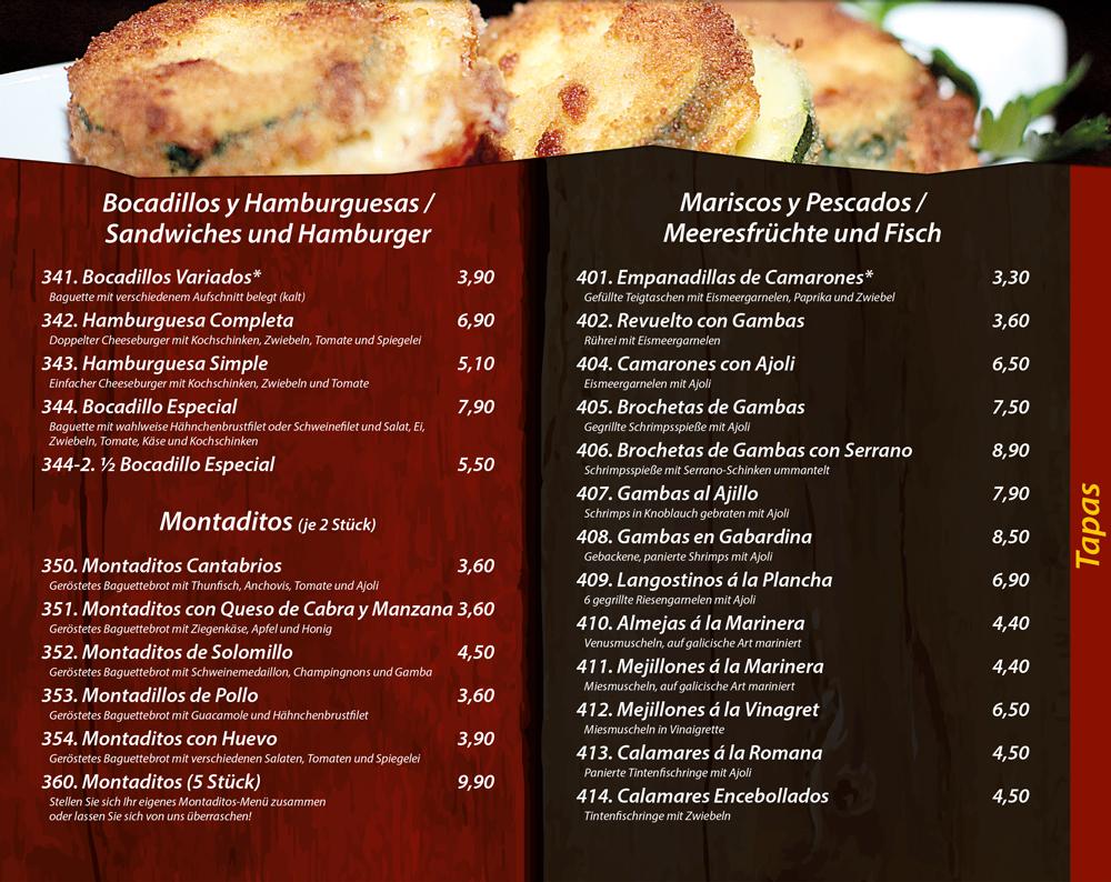 Tapas mit Meerfruechten und Fisch - Sandwiches, Hamburger, Montaditos - Die Kiste in Cuxhaven