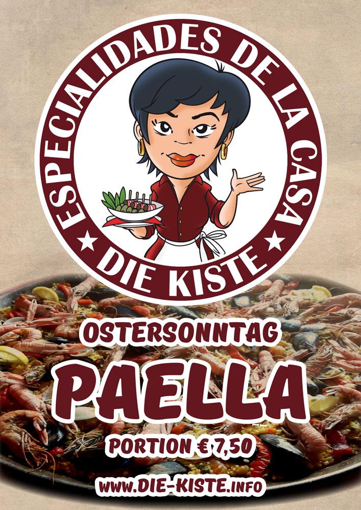 Ostersonntag - hausgemachte Paella - Cocktails und Tapas - Die Kiste - Cuxhaven