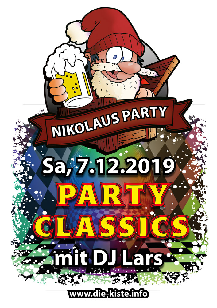 Nikolaus Party in der Cocktail- und Tapas-Bar Die Kiste - Party Classics mit DJ Lars in Cuxhaven