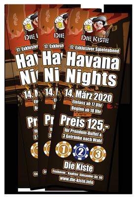Havana Nights - 17. exklusiver Spieleabend in der Die Kiste in Cuxhaven