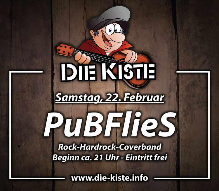 Livemusik mit PuBFlieS - Rock- und Hardrock Coverband in der Cocktailbar Die Kiste in Cuxhjaven