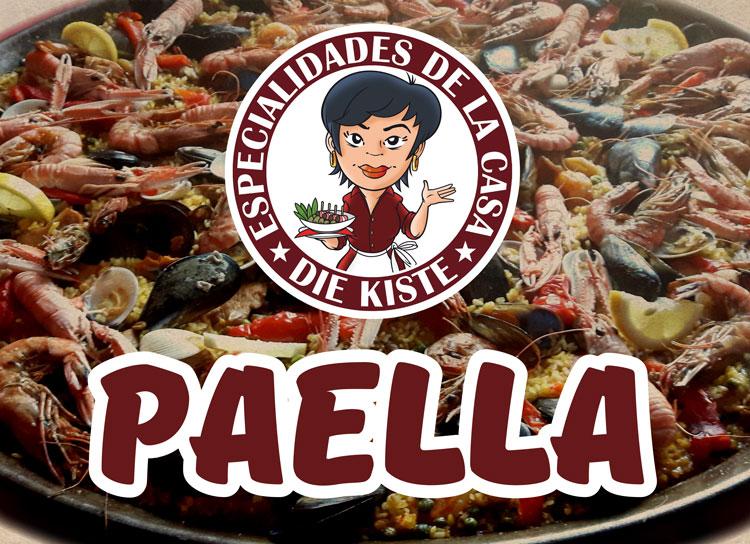 Paella - nach spanischem Rezept - Cocktailbar und Tapasbar DIE KISTE in Cuxhaven