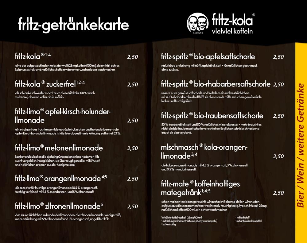 Fritz Cola - Fritz Brause - Die Kiste in Cuxhaven