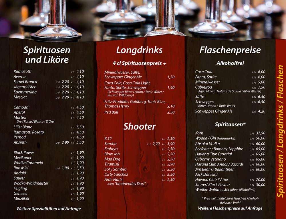 Spirituosen, Longdrinks - Die Kiste in Cuxhaven
