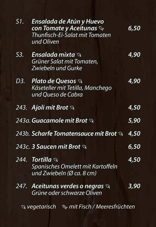 Tapas - Salat - Vorspeisen - Dipps - Vegetarisches - Die Kiste in Cuxhaven