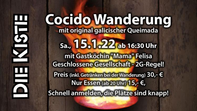 Cocido-Wanderung / Spanische Grünkohl-Wanderung am 15.1.2022 in der DIE KISTE in Cuxhaven
