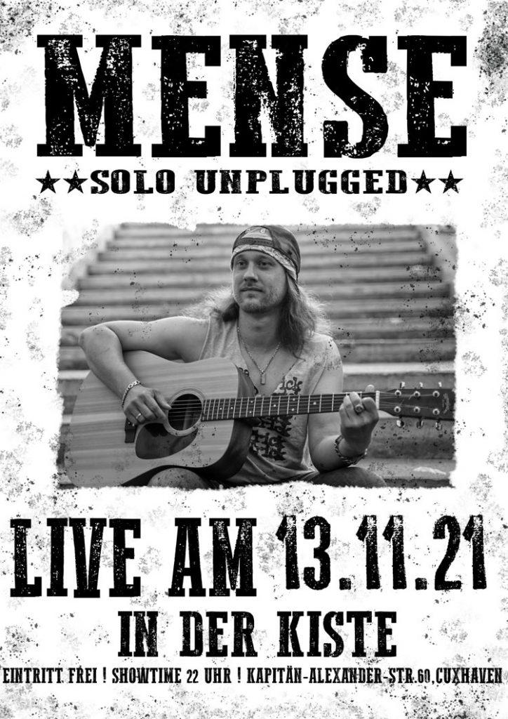 Livemusik mit MENSE am 13.11.21 in der DIE KISTE in Cuxhaven