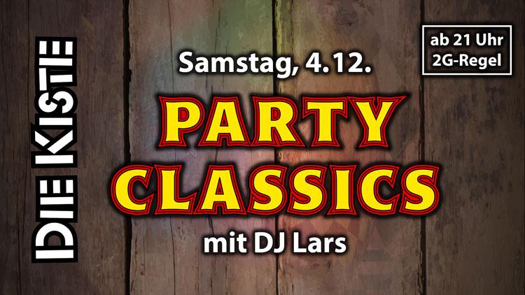 Nikolaus-Party / DJ-Party - Party Classics mit DJ Lars am 4.12.21 in der DIE KISTE in Cuxhaven
